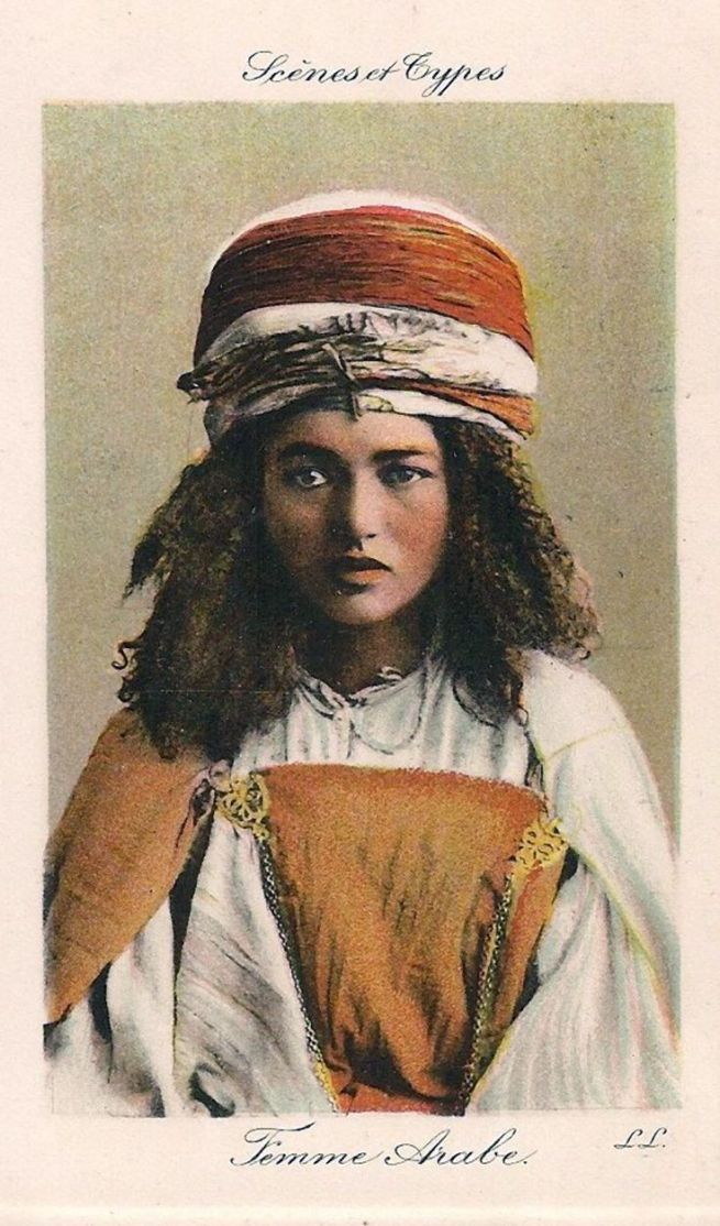 An early 20th century French Scenes and Types postcard of an Algerian girl published by Lehnert and Landrock